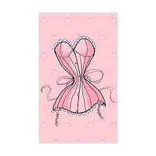 Retro Flirty Pink Corset Decal