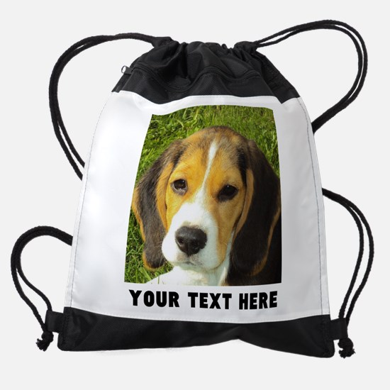 Dog Photo Personalized Drawstring Bag