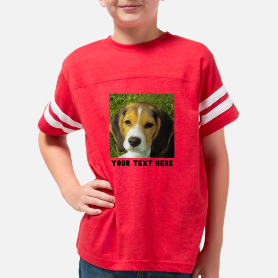 Dog Photo Personalized Youth Football Shirt