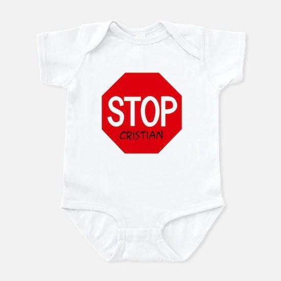 Stop Cristian Infant Bodysuit