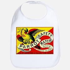 Parrot Swedish Antique Matchbox Label Bib