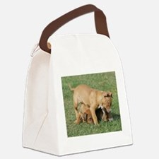 cutepupscropped.jpg Canvas Lunch Bag
