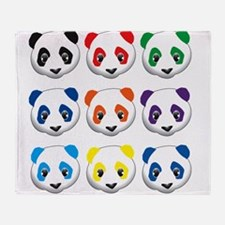 multi panda.png Throw Blanket