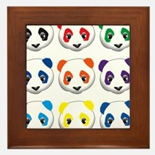 multi panda.png Framed Tile