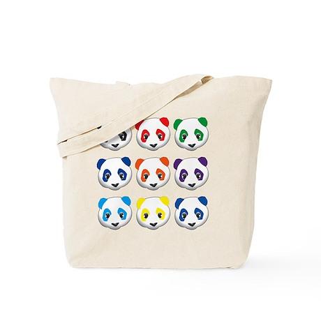multi panda.png Tote Bag