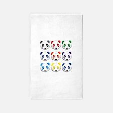multi panda.png 3'x5' Area Rug