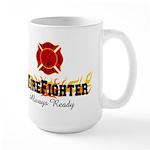 Hot Firefighter Large Mug