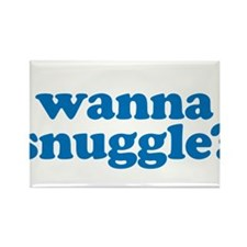 Wanna snuggle? Rectangle Magnet