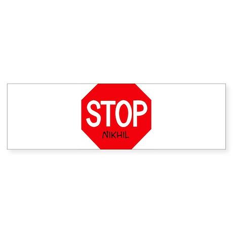 Stop Nikhil Bumper Sticker