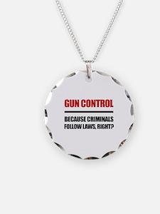 Gun Control Necklace
