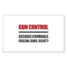 Gun Control Decal