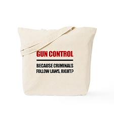 Gun Control Tote Bag