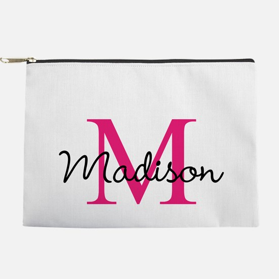 Monogram Customized Pink Makeup Pouch