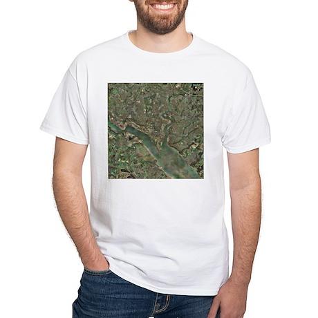 Southampton, UK, aerial photograph - White T-Shirt