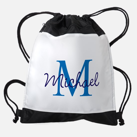 Personalize Initials and Name Drawstring Bag