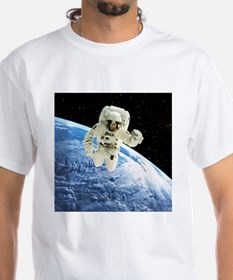Composite image of a spacewalk over Earth - Shirt