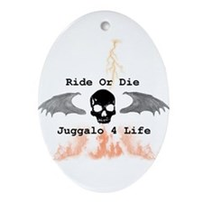 Ride or Die Ornament (Oval)