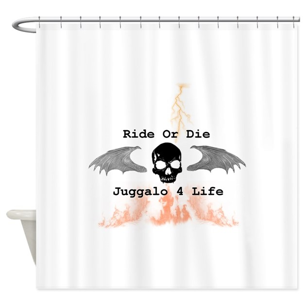 Ride or die shower curtain by hatchetkreationz for Ride or die jewelry