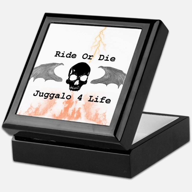 Juggalo keepsake boxes juggalo jewelry boxes decorative for Ride or die jewelry
