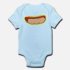 Cool retro hot dog Infant Bodysuit