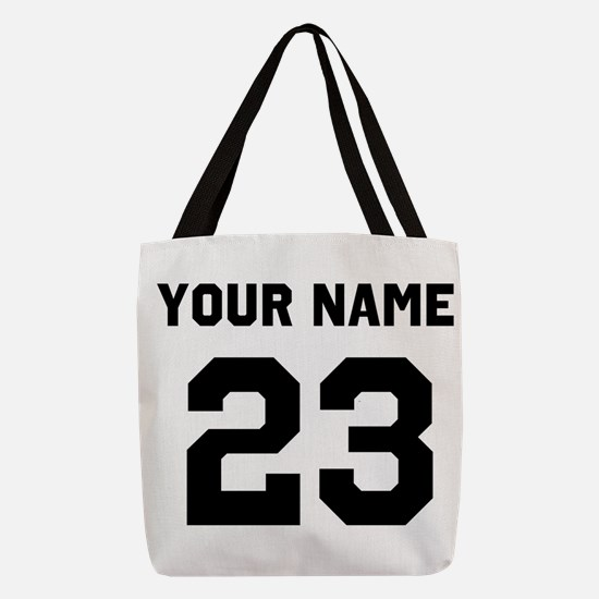 Custom Sports Jersey Number. Polyester Tote Bag
