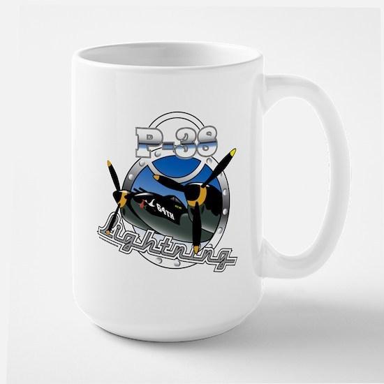 P38 Lightning.png Large Mug