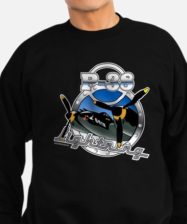 P38 Lightning.png Sweatshirt (dark)