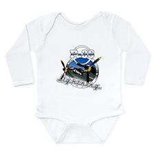 P38 Lightning.png Long Sleeve Infant Bodysuit