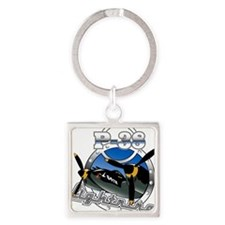 P38 Lightning.png Square Keychain