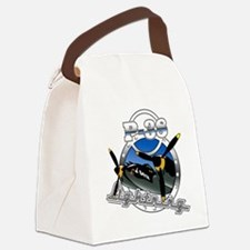 P38 Lightning.png Canvas Lunch Bag
