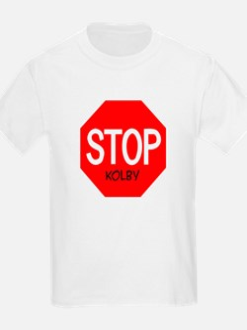 Stop Kolby Kids T-Shirt