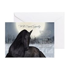 Pet Horse Sympathy Card, Loss Of Horse (Pk of 20)