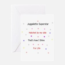Juggalette Superstar Greeting Card