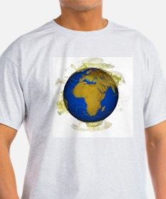 Cloud and atmosphere computer model - T-Shirt