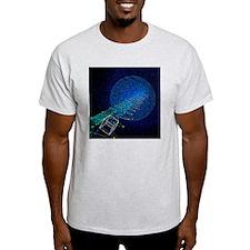 Electron and proton beams, computer model - T-Shirt