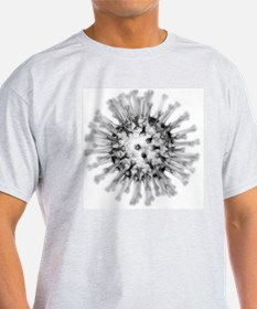 H1N1 flu virus particle, artwork - T-Shirt