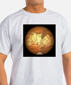 Schiaparelli's observations of Mars - T-Shirt