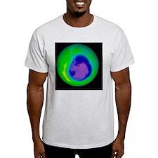 Antarctic ozone hole, 2010 - T-Shirt