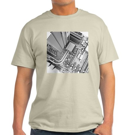 Computer motherboard, artwork - Light T-Shirt