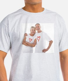 Happy senior couple - T-Shirt