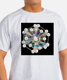 Soap bubbles on a dodecahedral frame - T-Shirt