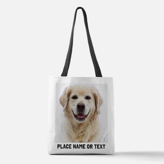 Customize Pet Photo Text Polyester Tote Bag