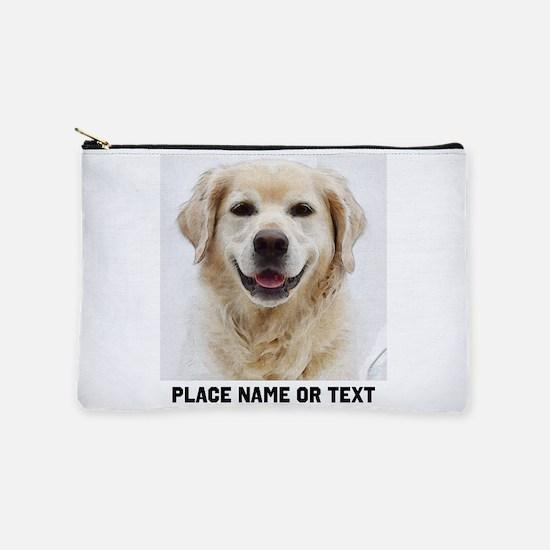Customize Pet Photo Text Makeup Pouch