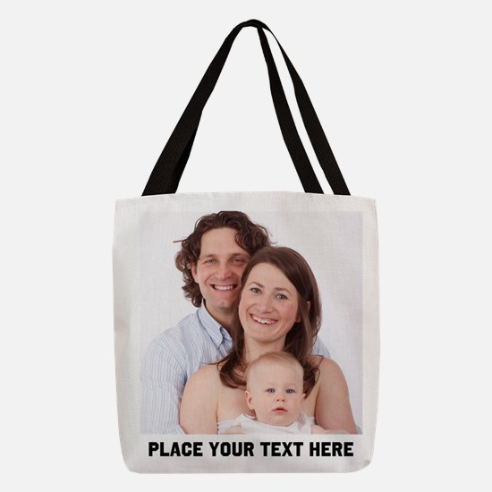 Customize Photo Text Message Polyester Tote Bag