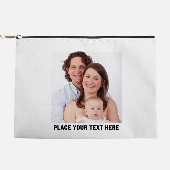 Customize Photo Text Message Makeup Pouch