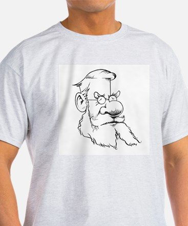 Alfred Wallace, caricature - T-Shirt