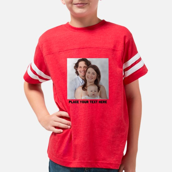 Customize Photo Text Message Youth Football Shirt