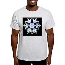 Computer enhanced image of a snow flake - T-Shirt