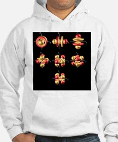 5f electron orbitals, cubic set - Hoodie
