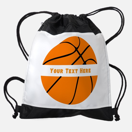 Customize Basketball Name Drawstring Bag